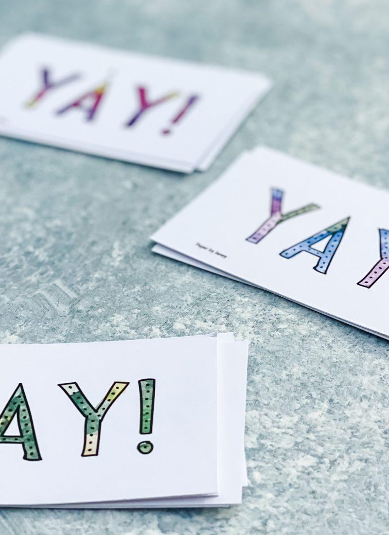 yay celebration card