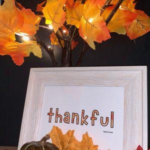 thankful decor