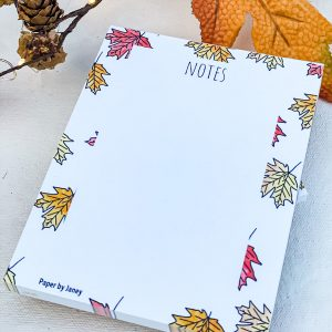 fall leaves notepad